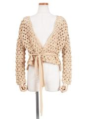 hand-crochet cotton cardigan