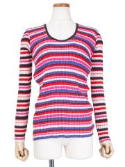 COLOR GATHERING PULLOVER