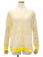 FLOWER embroidery lace snap buttoned Cardigan