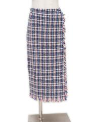 TWEED WRAP SKIRT【OUTLET/50%OFF】