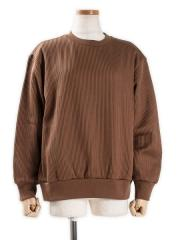 Cotton Wide-wale Crew-neck P/O