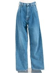 TUCK DENIM PANTS