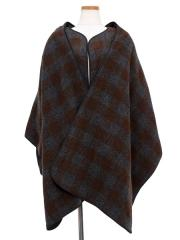 block checked wool-mosser scarf&jacket【50%OFF】
