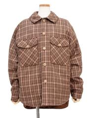 checked wool-amundsen padded shirt jacket【50%OFF】
