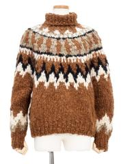 cashmere blend hand-knit sweater