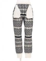 geelong rambs & mohair silk jaquard-knit pants