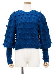 PONPON MOHAIR KNIT TOPS