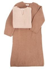 undyed pure camel knit dress