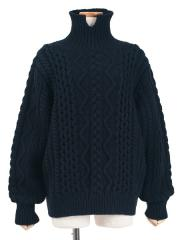 french merino cable-knit sweater